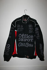 New Tony Stewart NASCAR Office Depot / Old Spice #14 cotton black jacket men's L