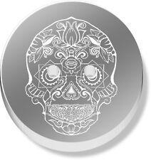 12 x 23mm 'Sugar Skull' Round Mirrored Buttons (BT00028297)