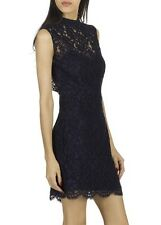 SANDRO Romie backless lace dress NAVY, Size T2 - 38, PPR $510