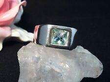 Edelsteinring Ring  Silber 925 mit Blautopas Größe 58 (18,4 mm Ø) Topas