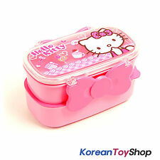 Hello Kitty Plastic Lunch box Bento 2 Layers Ribbon Style