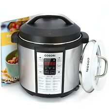Cosori 7-in-1 Multi-Functional Pressure Cooker with Glass Lid (C1156-PC) CKP NEW