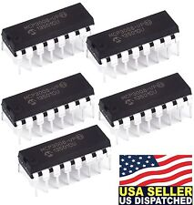5x Microchip MCP3008-I/P MCP3008 8-Channel 10-Bit A/D Converters SPI New IC