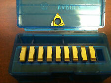 Vardex 2er 0.7iso Vkx Carbide Laydown Threading Inserts, Qty 10