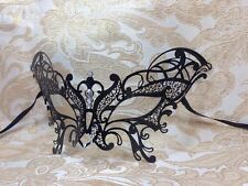 Black Party Metal Laser Cut Venetian Halloween Ball Masquerade Party Prom Mask