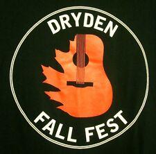 DRYDEN FALL FEST med T shirt Rockabilly Strangers & Hatchetmen 2008 tee Michigan