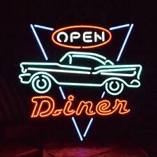 """New Diner Open Route 66 Highway Bar Beer Neon Sign 24""""x20"""""""