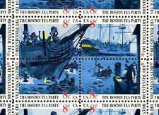 1973 - BOSTON TEA PARTY - #1480-83 Full Mint -MNH- Sheet of 50 Postage Stamps