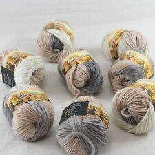 SALE 8 Skeins x 50gr NEW Chunky Colorful Hand Knitting Wool Yarn 805 Grey Beige