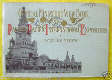 1915 Pan Pacific Expo PPIE - Official Miniature View Book - No. 1 of 2