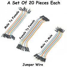 20PCS SET OF Male To Male, Female to Female & Male To Female Jumper Wire 20 Cm