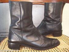 Mi-BOTTES Cuir noir Richelieu PAUL GREEN München Ankle Chelsea Boots 6,5 / P.40