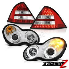 """2001-2004 Mercedes Benz W203 C-Class """"FACTORY STYLE"""" Halo LED Headlight Taillamp"""