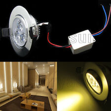 Warm White 3W LED Ceiling Recessed lights Downlight Lamp Spot Light With Driver