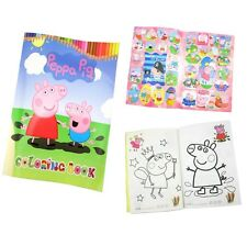 Peppa Pig Coloring Book with Stickers Fun Gift 13.5x20cm 16 Pages Free Shipping