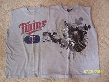Lot Boys T-shirts Sleeveless Size Small Gray MN Twins & Guitar patterns