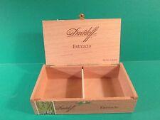 """Davidoff """"Entreacto"""" Hand Made Wooden Cigar Box - Empty"""