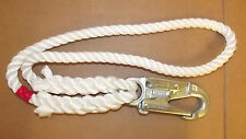 "1/2"" x 2' (24"") Lanyard w/Snap, Aborist Rope, 3-Strand Polyester Line, Brand NEW"