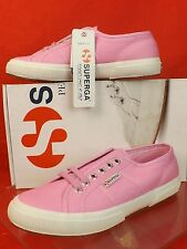 NIB SUPERGA COTU 2750 CLASSIC LILAC PINK CANVAS LACE UP LOGO SNEAKERS 41 9.5 $65