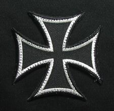 PATRIOT GUARD CROSS MILITARY BADGE BLACK OPS SILVER VELCRO® BRAND FASTENER PATCH