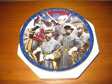 8 Civil War Collectible Plates, plus a chance to win 24X36 painting of R. E. Lee