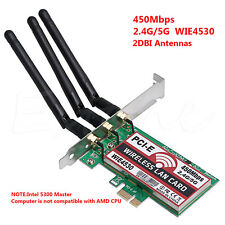 Desktop 450M Dual Band LAN Wifi Wireless PCI-e 1X Wlan adapter for hackintosh PC