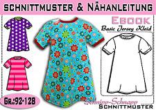 Basic Jersey Kleid pdf.Schnittmuster und Nähanleitung Gr.:92-128
