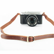 Real Leather Neck Shoulder Strap for Olympus Leica Fujifilm Sony Camera Brown