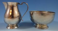 JAMES ROBINSON STERLING SILVER SUGAR & CREAMER 2-PC. SET (#1235)