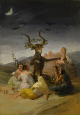 Witches Sabbath Francisco de Goya Hexen Mond Nacht Bock Fledermaus B A3 01841