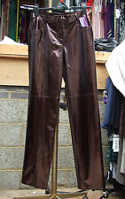 Joseph Ribkoff BNWT 10 Stunning & Unusual Gloss Snake-Skin Effect Brown Trousers