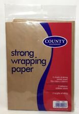 2 Strong Brown Wrapping Paper with String Label Kraft Packing Posting Wrap Pack