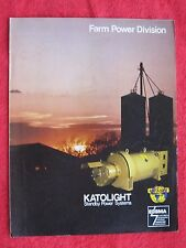VINTAGE KATOLIGHT STANDBY FARM POWER ELECTRIC GENERATING SYSTEMS BROCHURE
