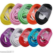 lot 100 x color USB Data CHARGING CABLE CORD for iPHONE 4S 4 IPAD2 3 IPOD TOUCH4