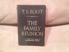 The Family Reunion A Play by T.S. Eliot,Harcourt, Brace,1939 Hardcover w Jacket