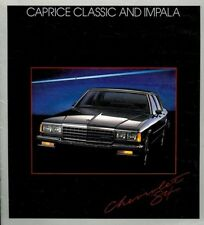 1984 Chevrolet Caprice Classic and Impala 16-page Original Car Sales Brochure