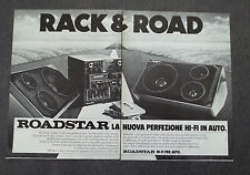 G319 - Advertising Pubblicità - 1981 - ROADSTAR , RACK & ROAD HI-FI CAR