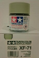 Tamiya acrylic paint XF-71 Cockpit green 23ml.