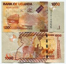 UGANDA 2010 NEW 1000 SHILLINGS BANK NOTE x 10 NOTE DEALER/COLLECTOR LOT