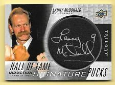 16/17 UD Trilogy Hall Of Fame Signature Pucks #LM Lanny McDonald Autograph Card