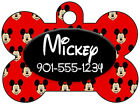 Disney Mickey Mouse Personalized Dog Tag Pet ID w/ Name & Number