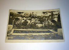 Antique Funeral Flowers & Grave Hole W/ Mourning Real Photo Postcard RPPC! Old!