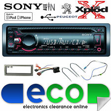 PEUGEOT 407 SONY CDX-G1000U CD MP3 USB AUX-IN IPOD IPHONE AUTO RADIO STEREO KIT