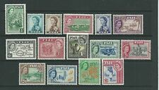 Fiji 1954-59 set to £1 SG280-95 fine mtd mint