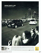 PUBLICITE ADVERTISING  016  2008  RENAULT  la Twingo Night & Day