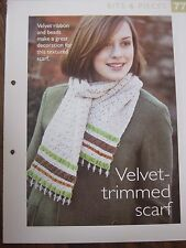 Velvet Trimmed Scarf Pattern The Art of Crochet Magazine