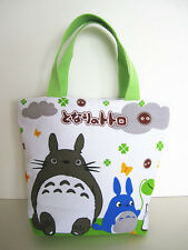 Studio Ghibli Totoro Lunch Bag Tote Canvas Picnic Food Drinks Holder Hand Bag