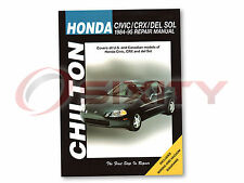 Honda CRX Chilton Repair Manual Base Si HF Shop Service Garage Book tt