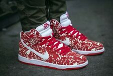 "NIKE DUNK HIGH PREMIUM SB Trainers Suede Boots Hi Tops ""Raw Meat"" UK 7.5 (EU 42)"