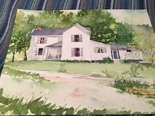 Original Watercolor A House On Burning Fork Salyersville Ky By Tom J Whitaker